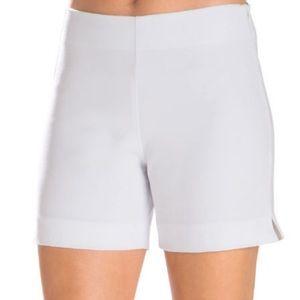 "Boston Proper ""Paris"" side zip White shorts"